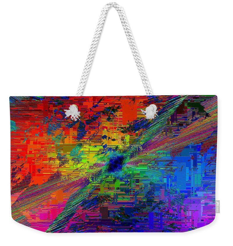 Abstract Weekender Tote Bag featuring the digital art Abstract Cubed 77 by Tim Allen