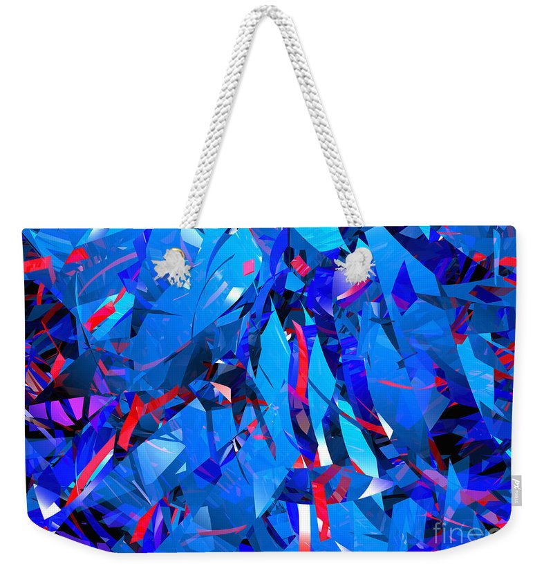 Abstract Weekender Tote Bag featuring the digital art Abstract Curvy 15 by Russell Kightley