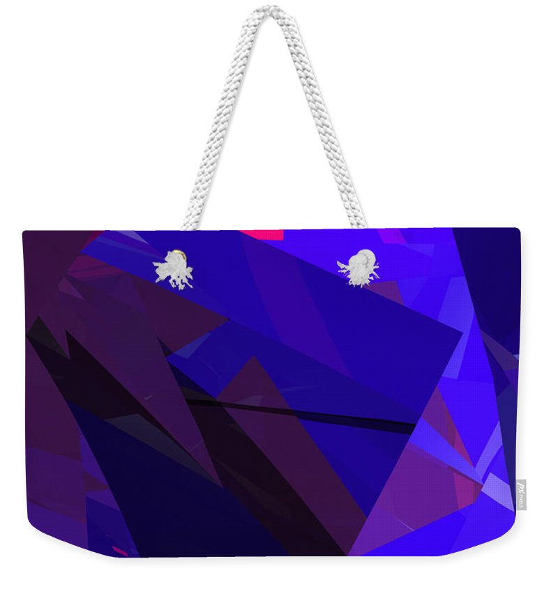 Abstract Weekender Tote Bag featuring the digital art Abstract Curvy 17 by Russell Kightley