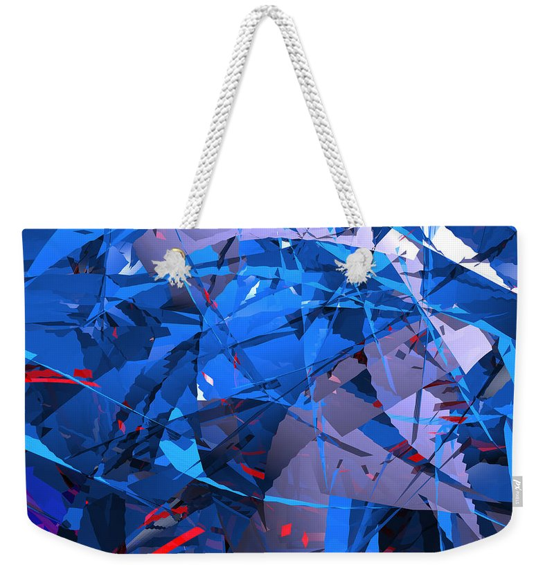 Abstract Weekender Tote Bag featuring the digital art Abstract Curvy 9 by Russell Kightley
