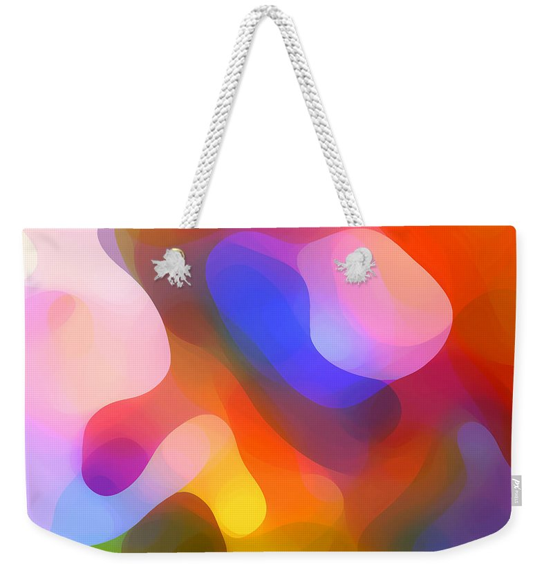 Abstract Art Weekender Tote Bag featuring the painting Abstract Dappled Sunlight by Amy Vangsgard