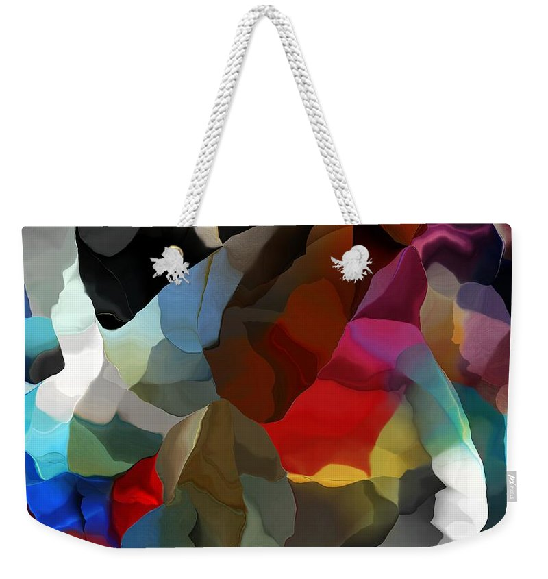 Fine Art Weekender Tote Bag featuring the digital art Abstract Distraction by David Lane