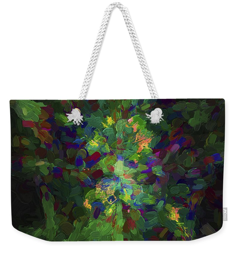 Abstract Weekender Tote Bag featuring the digital art Abstract Series Ex1 by Carlos Diaz