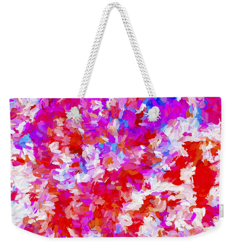 Abstract Weekender Tote Bag featuring the digital art Abstract Series Ex2 by Carlos Diaz