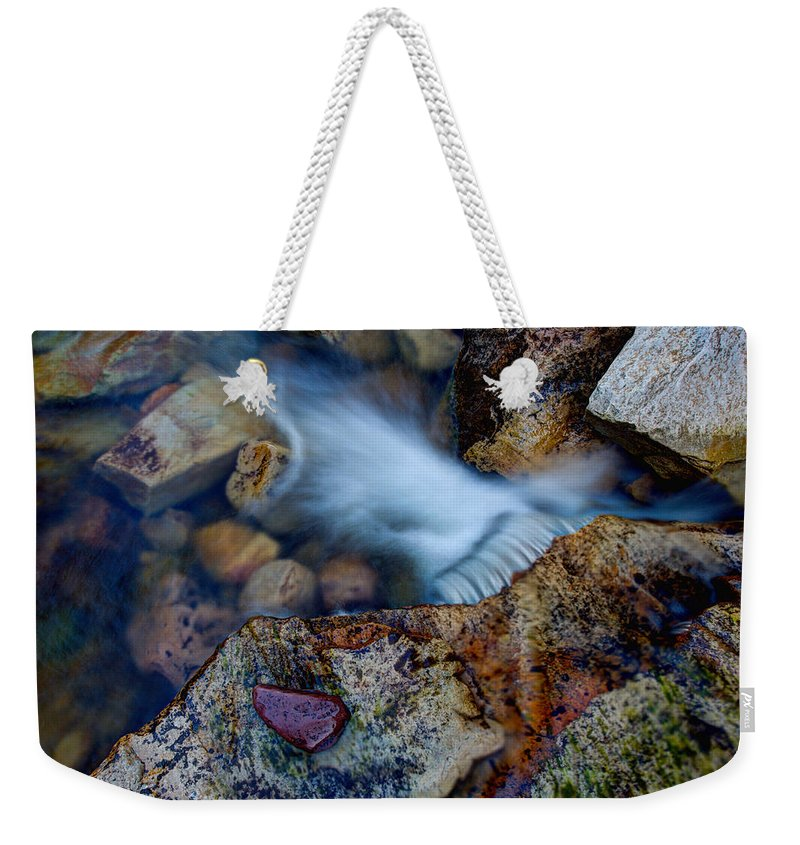 Outdoor Weekender Tote Bag featuring the photograph Abstract Falls by Chad Dutson