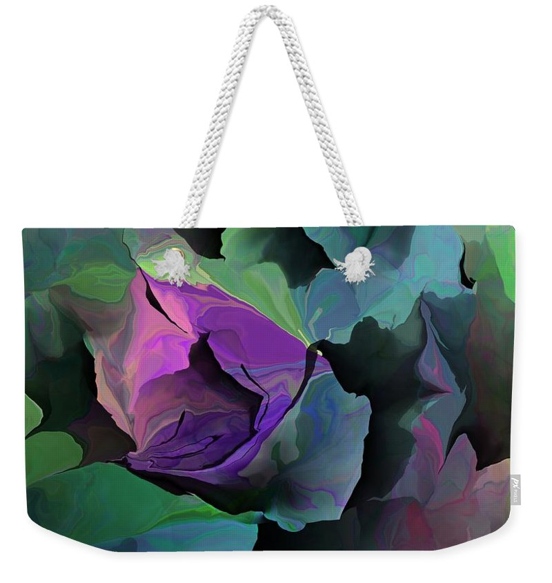 Fine Art Weekender Tote Bag featuring the digital art Abstract Floral Expression 041213 by David Lane