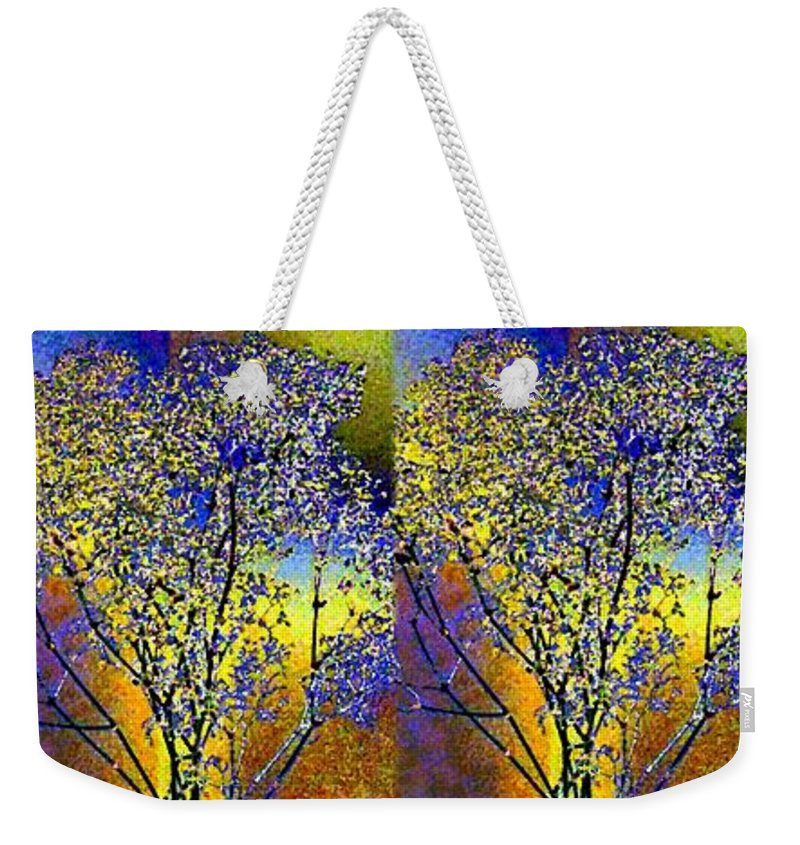 Abstract Fusion Weekender Tote Bag featuring the digital art Abstract Fusion 100 by Will Borden