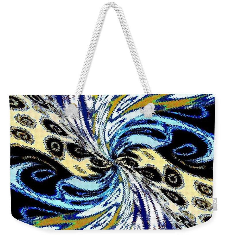 Abstract Fusion Weekender Tote Bag featuring the digital art Abstract Fusion 198 by Will Borden