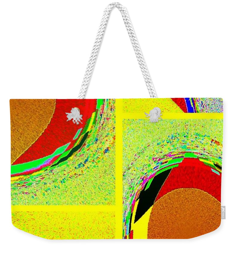 Abstract Fusion Weekender Tote Bag featuring the digital art Abstract Fusion 199 by Will Borden