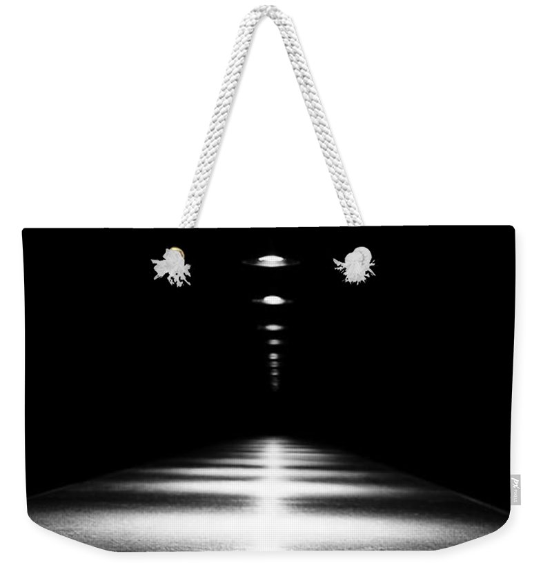 Black & White Weekender Tote Bag featuring the photograph Abstract Light by Scott Pellegrin