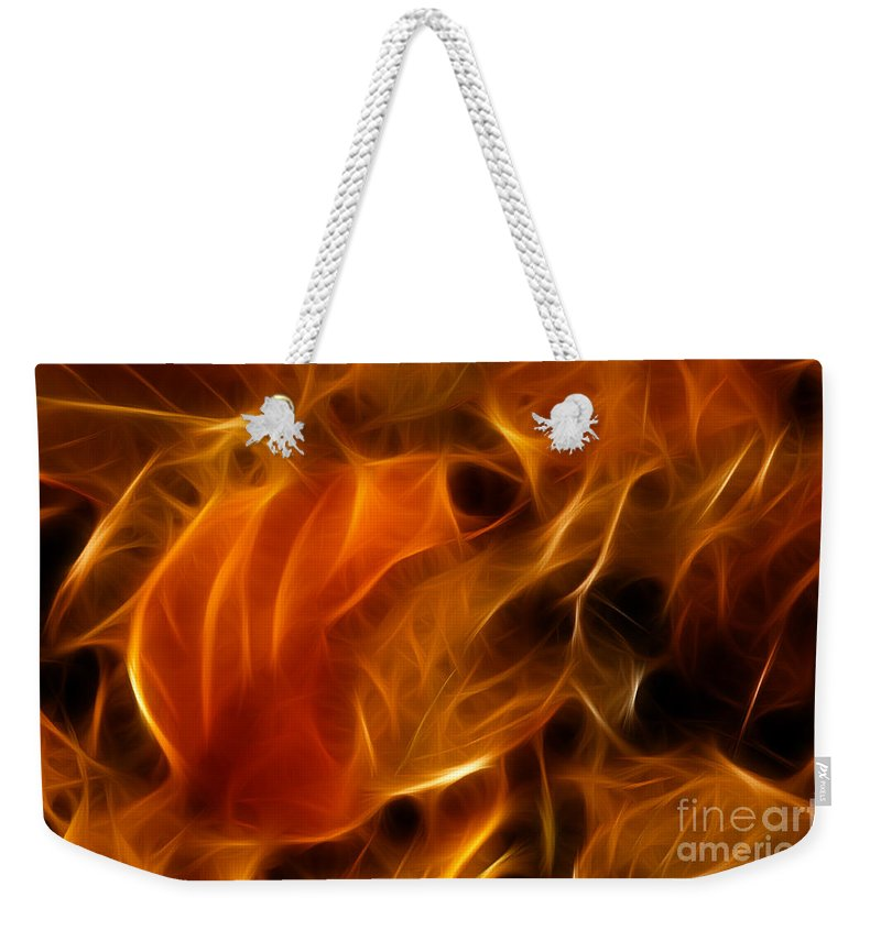 Abstract Weekender Tote Bag featuring the photograph Abstract Of Nature 4 by Vivian Christopher
