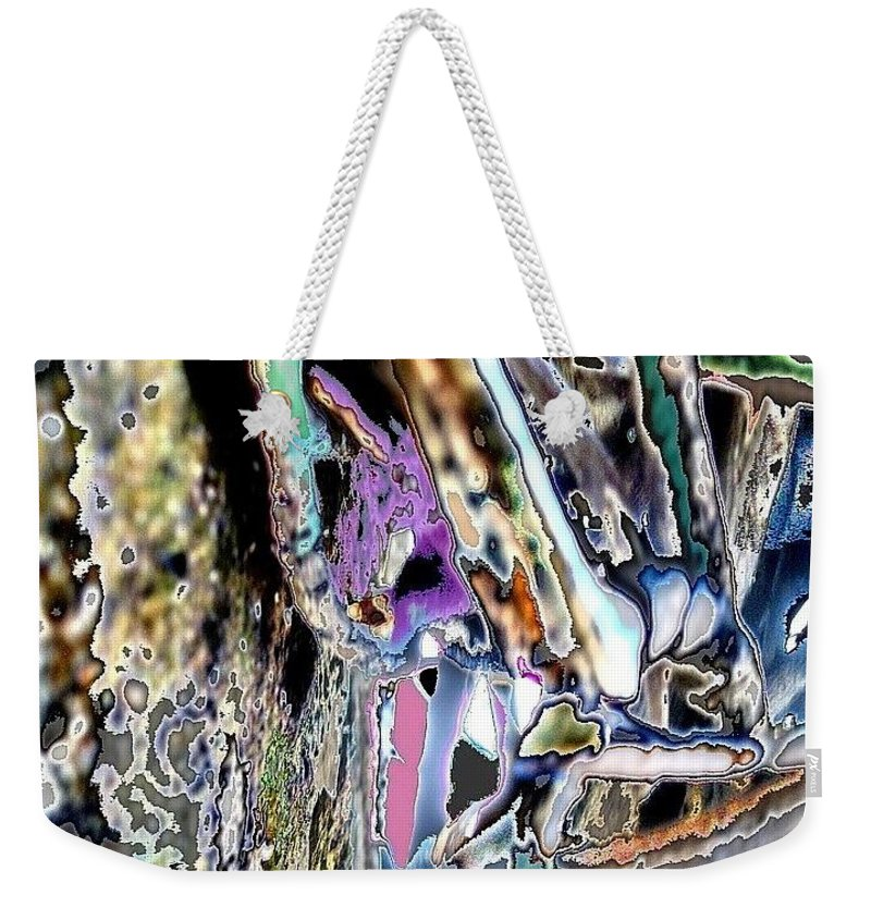 Colorful Dream Weekender Tote Bag featuring the photograph Abstract On Dream by Basant Soni