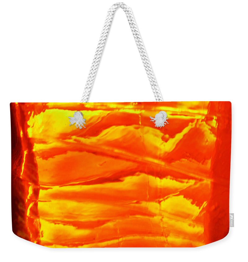Orange Weekender Tote Bag featuring the photograph Abstract Orange by Amanda Barcon