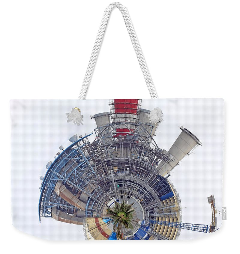 Power Weekender Tote Bag featuring the photograph Abstract Construction Power Plant by Paul Fell