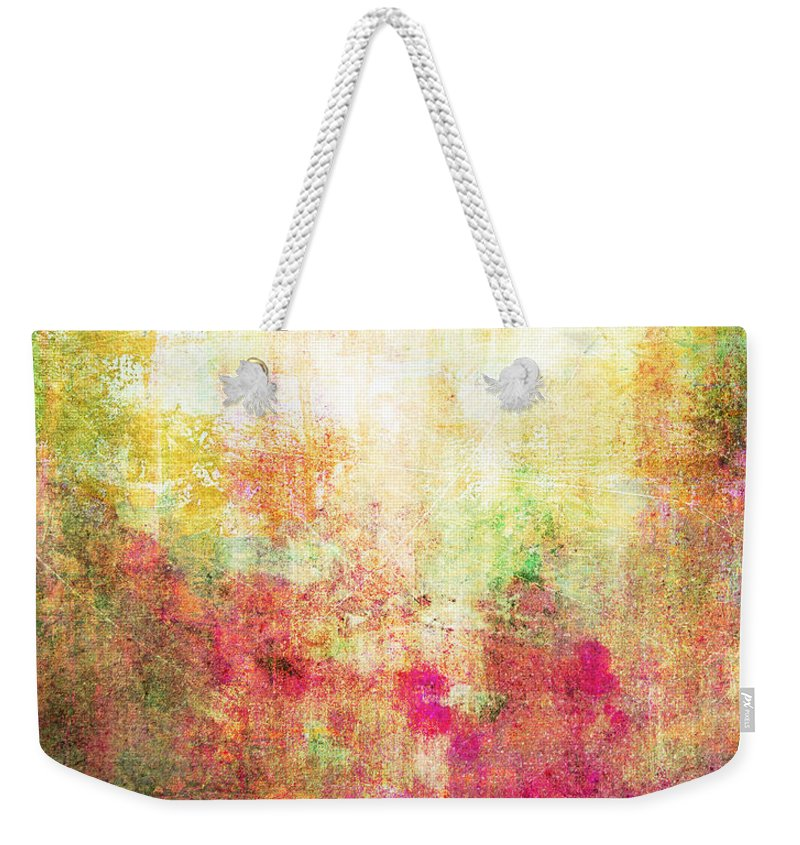 Abstract Weekender Tote Bag featuring the painting Abstract Print 14 by Filippo B