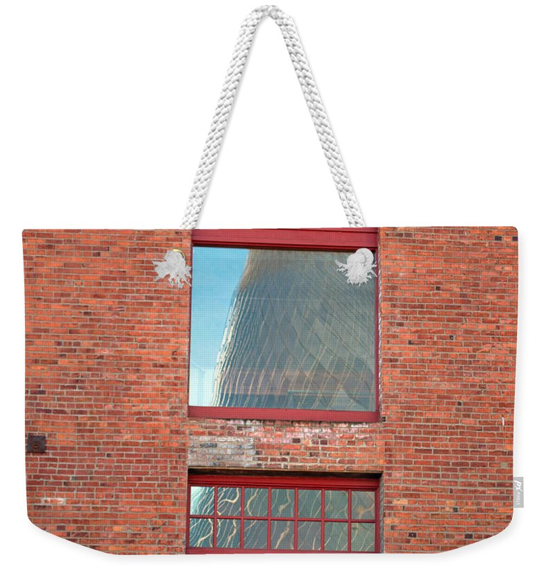 Tacoma Glass Museum Weekender Tote Bag featuring the photograph Abstract Reflection by Tikvah's Hope