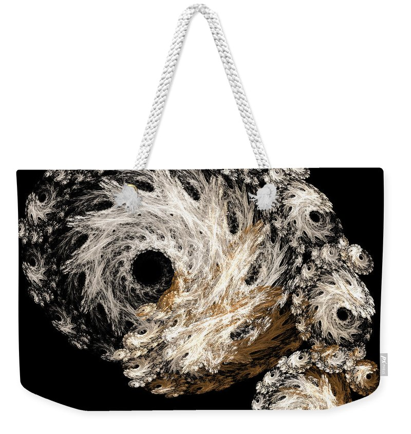 Abstract Weekender Tote Bag featuring the digital art Abstract Seashell by Andee Design