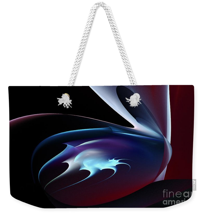 Abstract Shape Weekender Tote Bag featuring the digital art Abstract Shape by Klara Acel