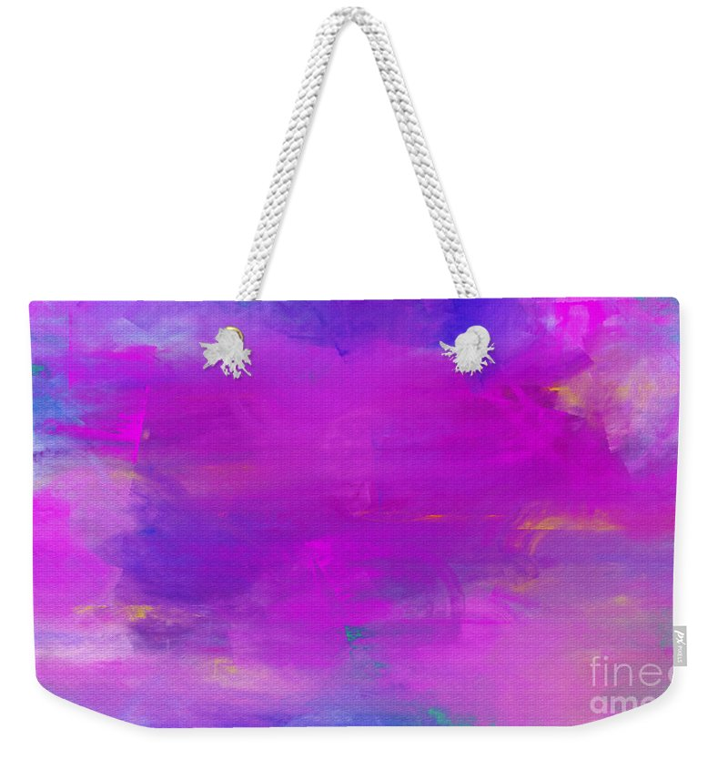 Abstract Weekender Tote Bag featuring the digital art Abstract Splendor by Andee Design