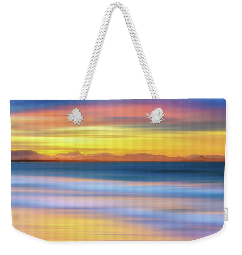 Tranquility Weekender Tote Bag featuring the photograph Abstract Sunset by Andriislonchak