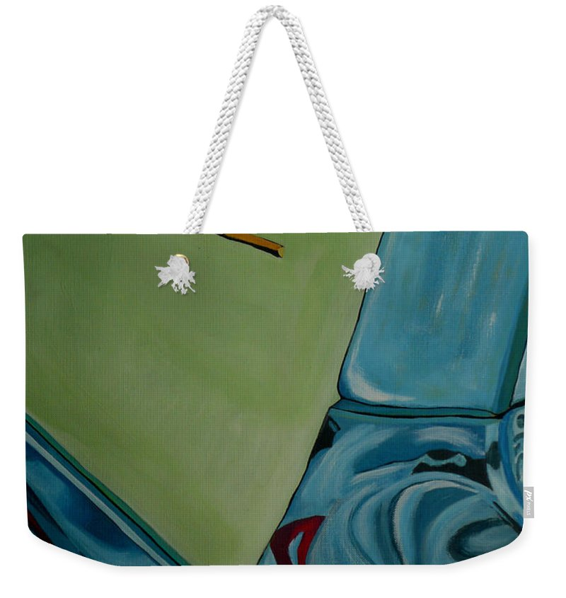 Chevy Weekender Tote Bag featuring the painting Chevrolet by Anthony Dunphy