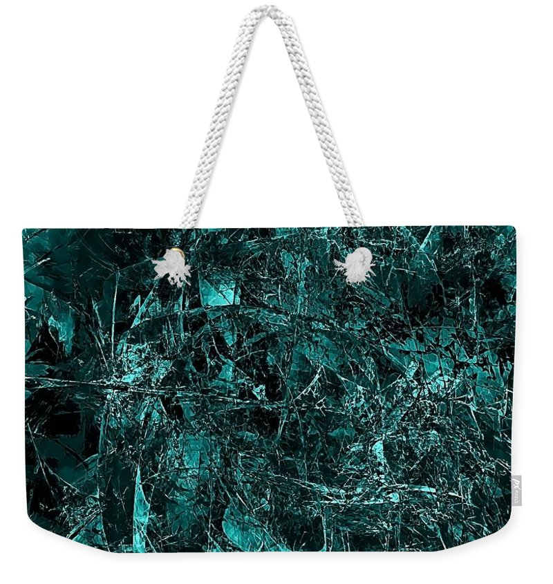 Graphics Weekender Tote Bag featuring the digital art Abstraction 0378 Marucii by Marek Lutek