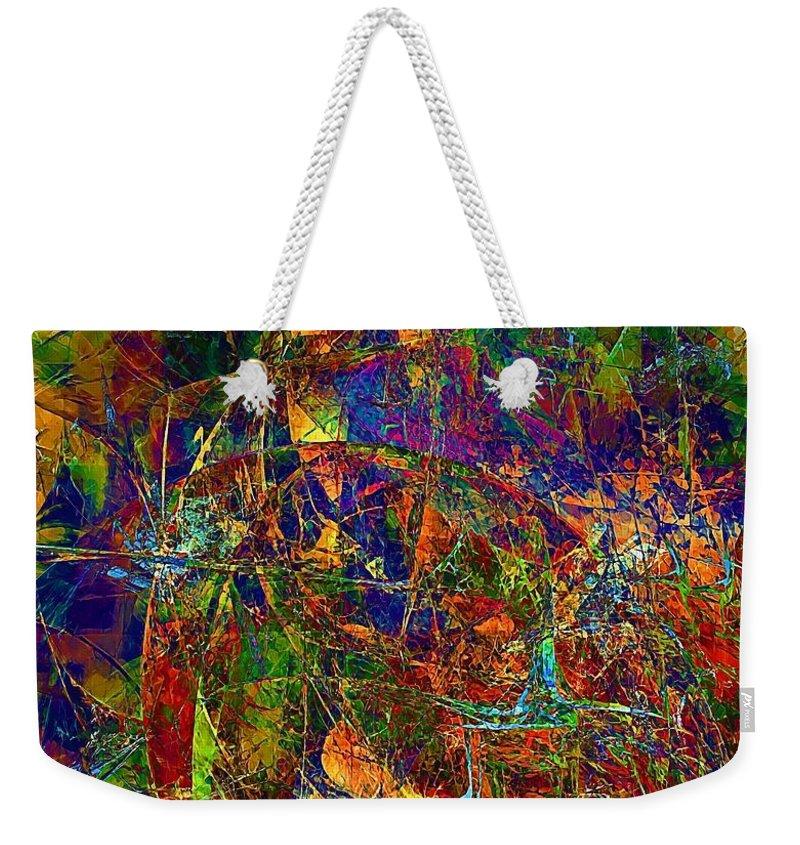 Graphics Weekender Tote Bag featuring the digital art Abstraction 0380 Marucii by Marek Lutek