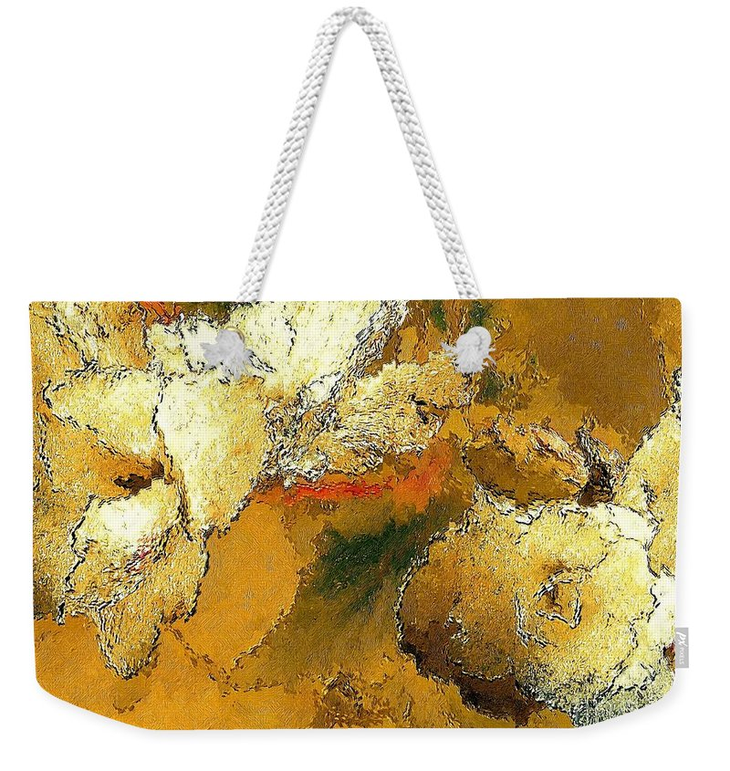 Graphics Weekender Tote Bag featuring the digital art Abstraction 0434 Marucii by Marek Lutek