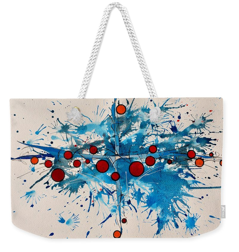 Abstrait Weekender Tote Bag featuring the painting Abstraction 36 by MICHAUX Michel