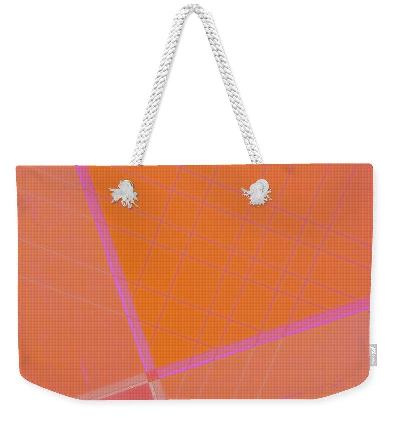 Abstract Weekender Tote Bag featuring the photograph Abstraction In Pink by Carol Leigh