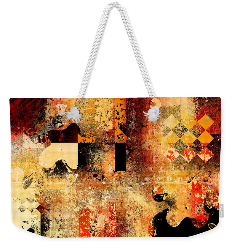 Abstract Weekender Tote Bag featuring the digital art Abstracture - 103106046f by Variance Collections
