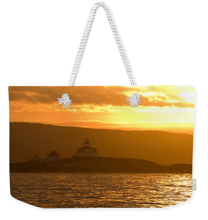 Acadia National Park Weekender Tote Bag featuring the photograph Acadia Lighthouse by Sebastian Musial