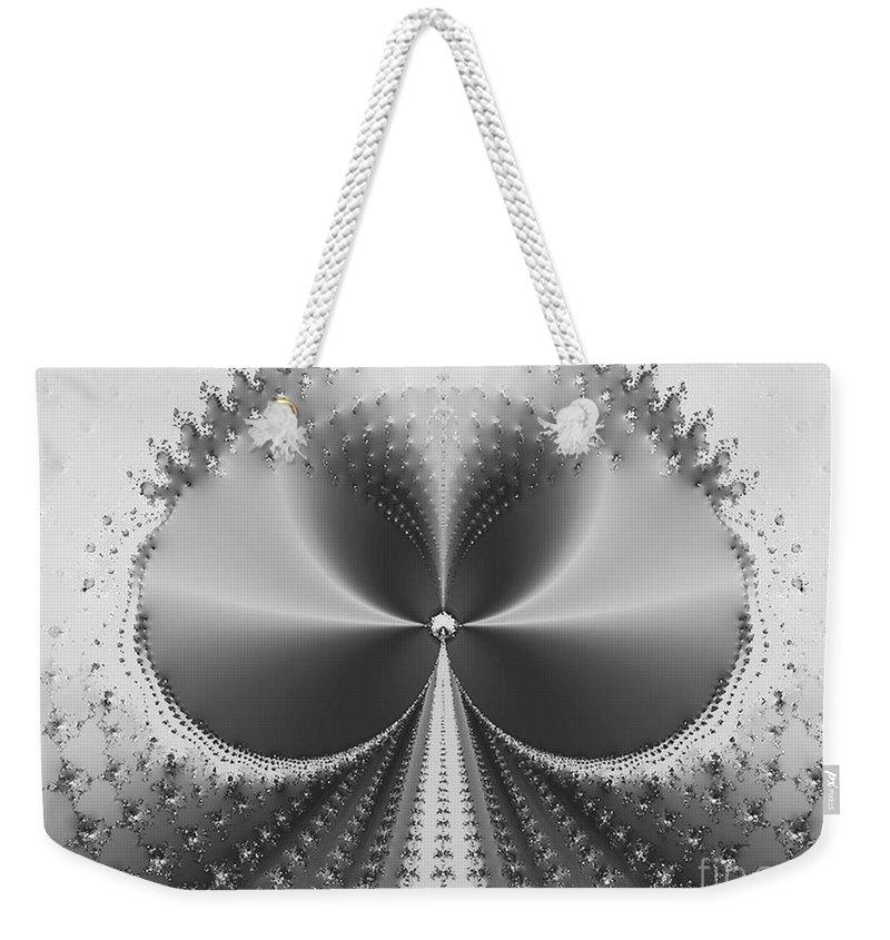 Metallic Weekender Tote Bag featuring the digital art Ace by Dana Haynes