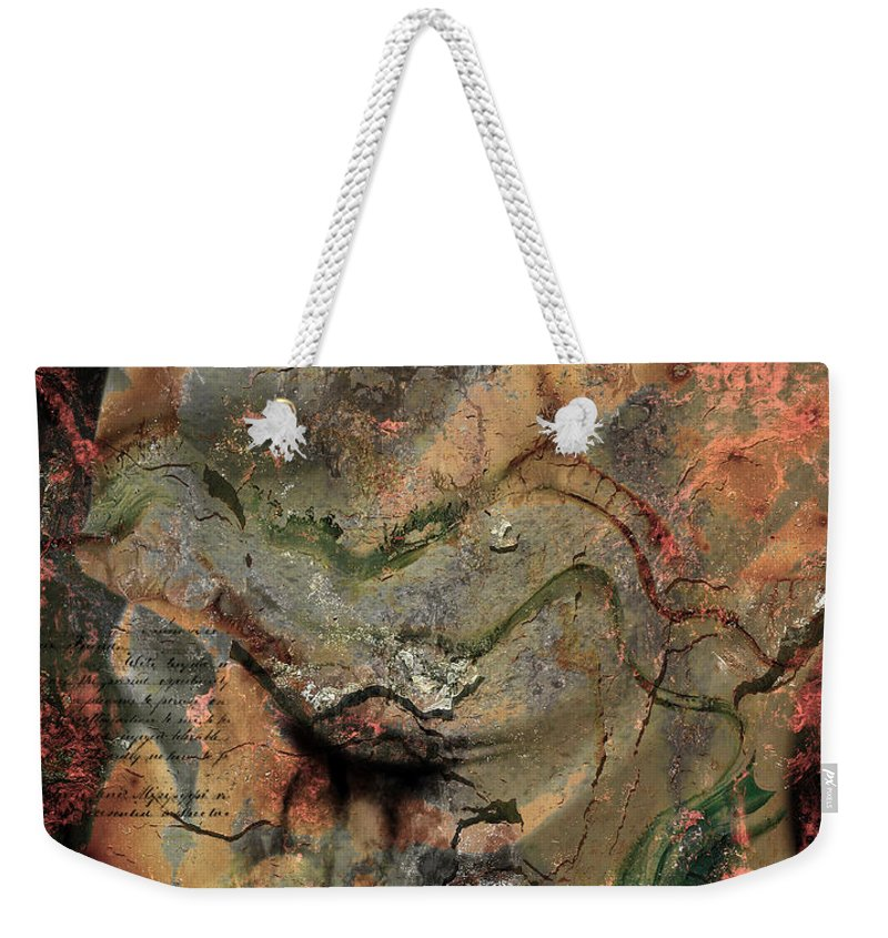 Head Weekender Tote Bag featuring the photograph Aches Of Mistakes by The Artist Project