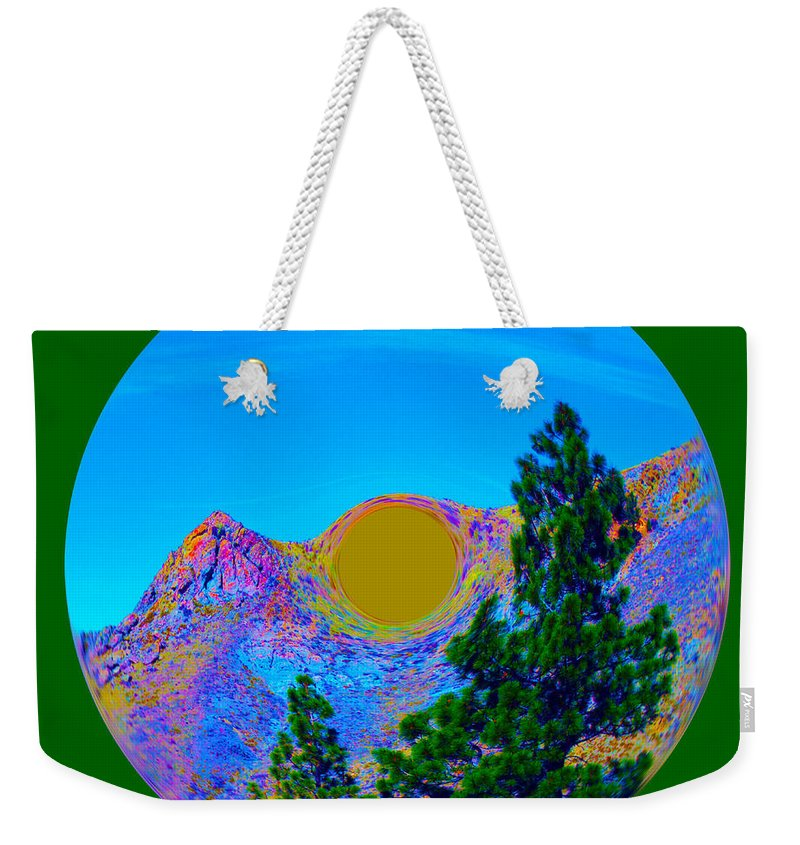 Orb Weekender Tote Bag featuring the photograph Acid Desert Orb 2 by Brent Dolliver