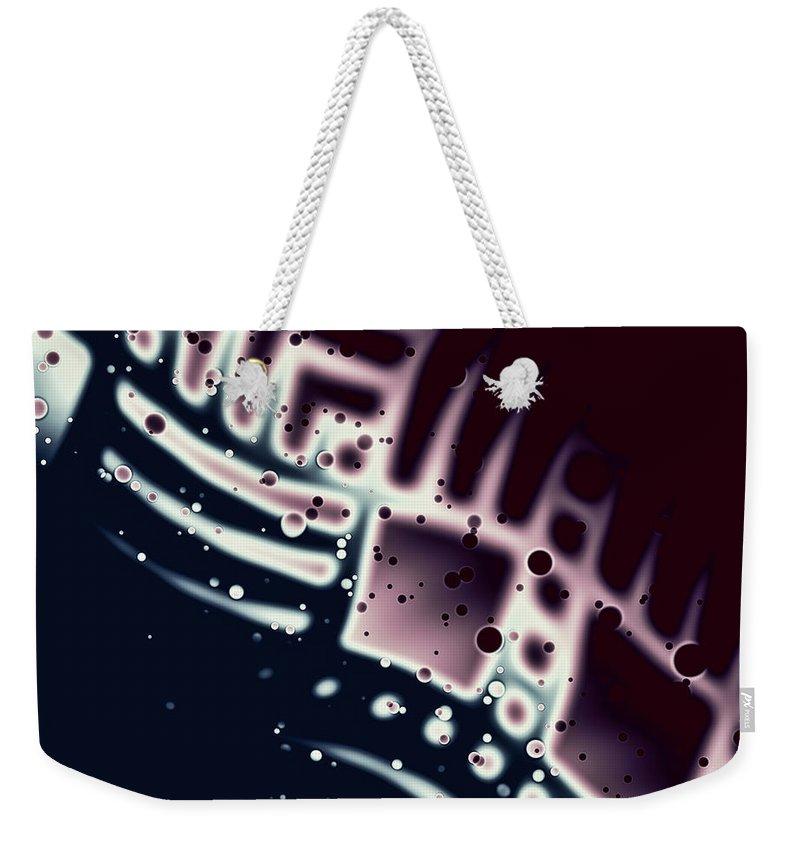 Artmatic Weekender Tote Bag featuring the digital art Acidity by Hakon Soreide