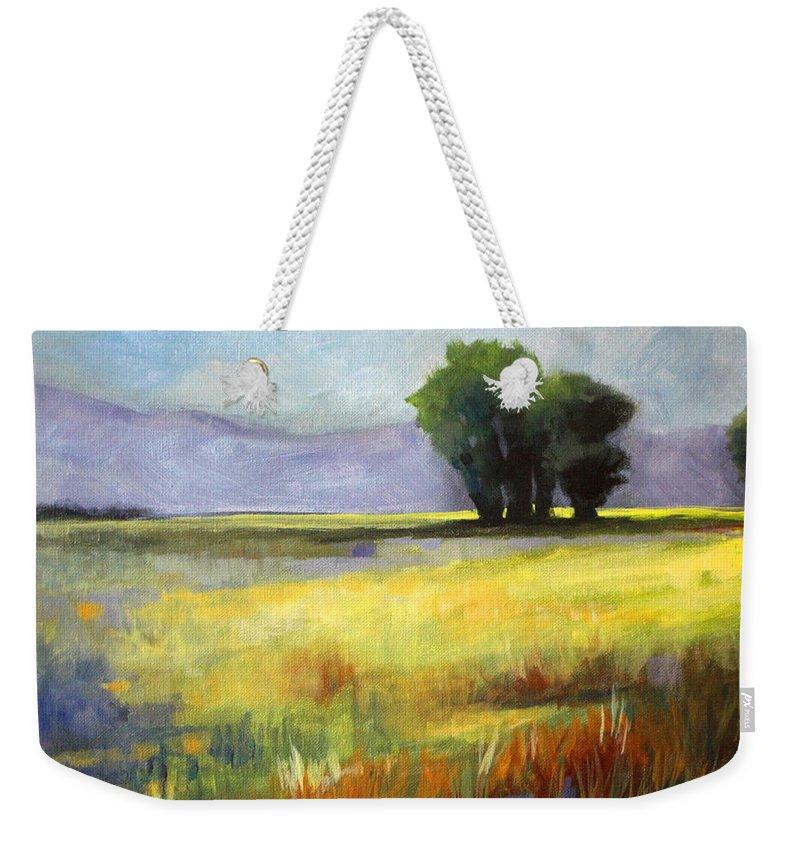 Prairie Grass Weekender Tote Bags