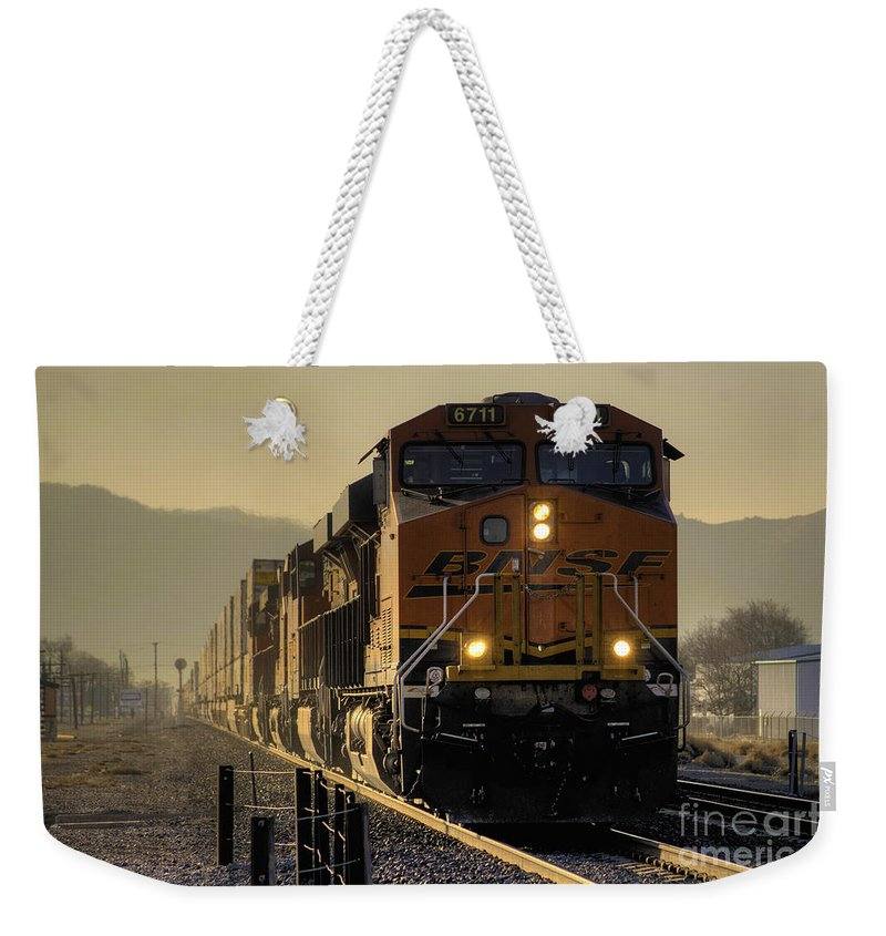 Tehachapi Weekender Tote Bag featuring the photograph Across The Summit by Rob Hawkins