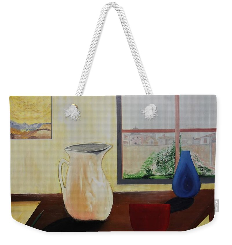 Originals Weekender Tote Bag featuring the painting Acrylic 3d Msc 015 by Mario Sergio Calzi