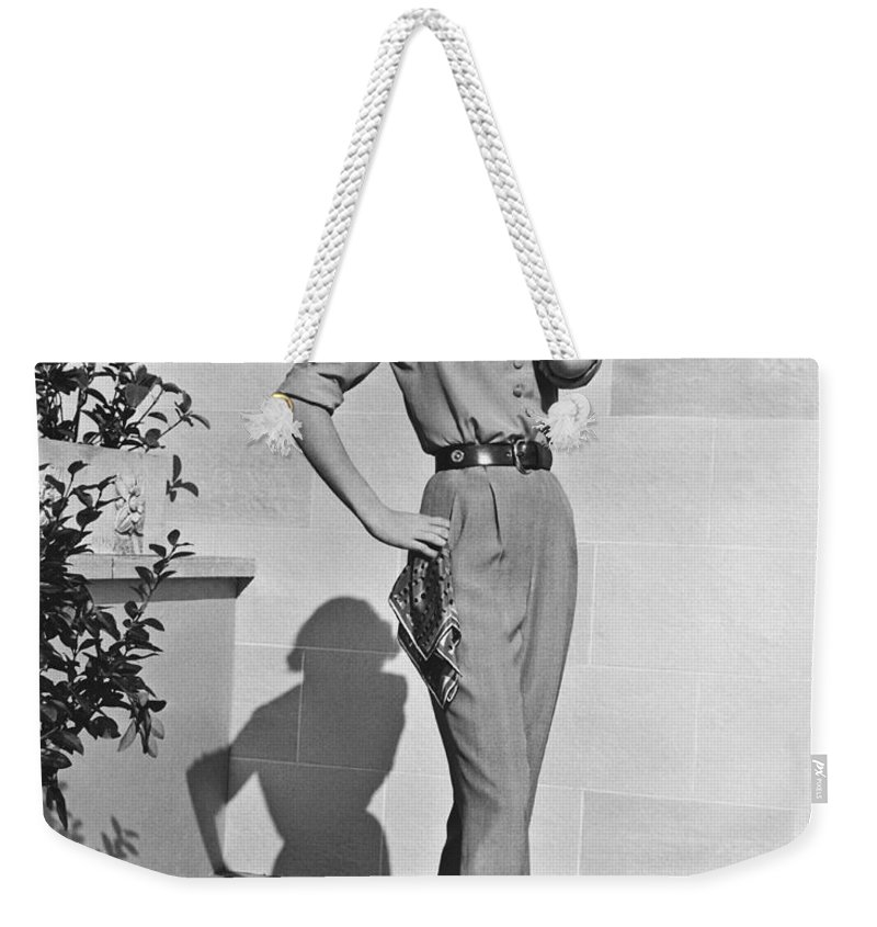 1956 Weekender Tote Bag featuring the photograph Actress Grace Kelly by Underwood Archives