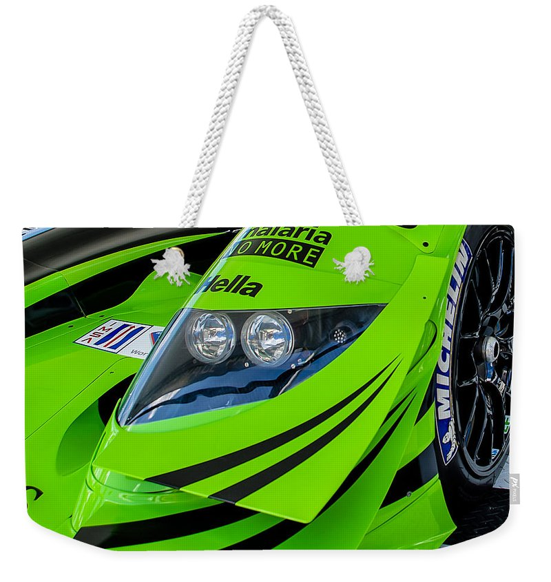 Racing Weekender Tote Bag featuring the photograph Acura Patron Car by Scott Wyatt