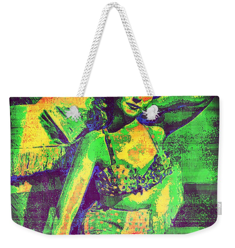Adele Mara Weekender Tote Bag featuring the digital art Adele Mara - 1940s Pin Up by Absinthe Art By Michelle LeAnn Scott