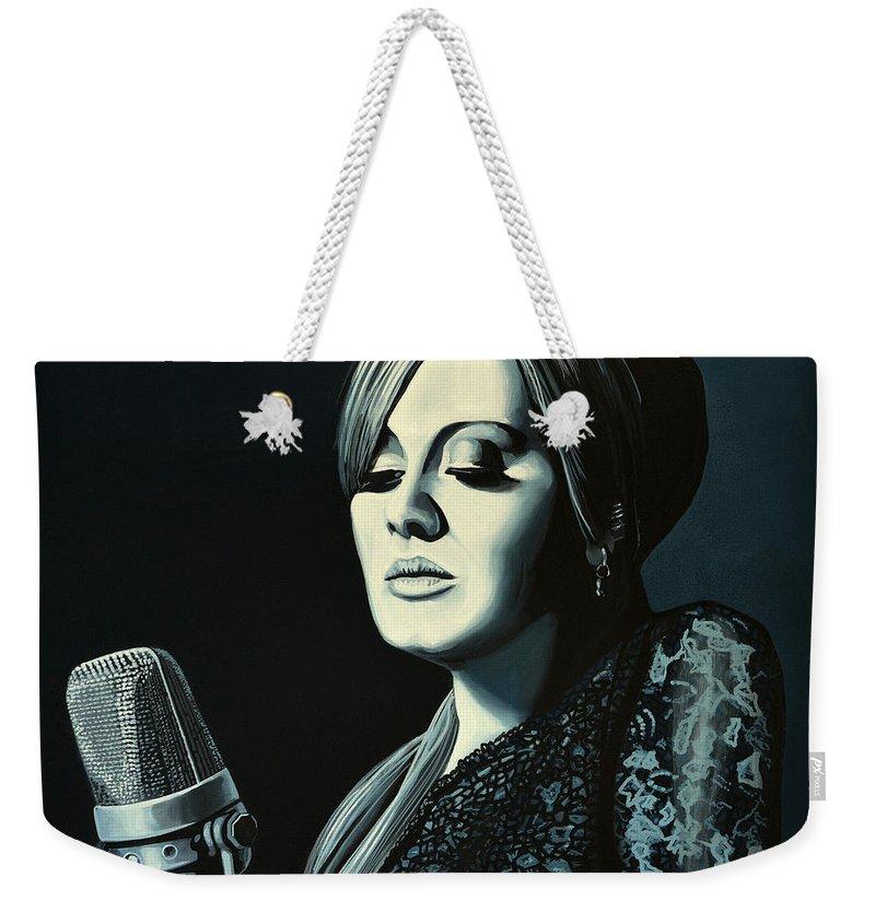 Adele Weekender Tote Bag featuring the painting Adele 2 by Paul Meijering