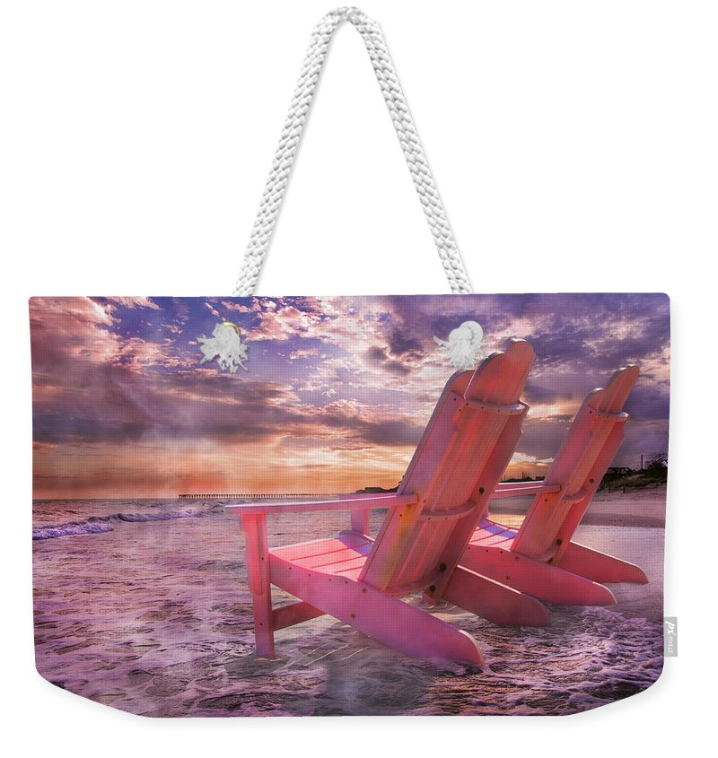 Topsail Weekender Tote Bag featuring the photograph Adirondack Duo by Betsy Knapp