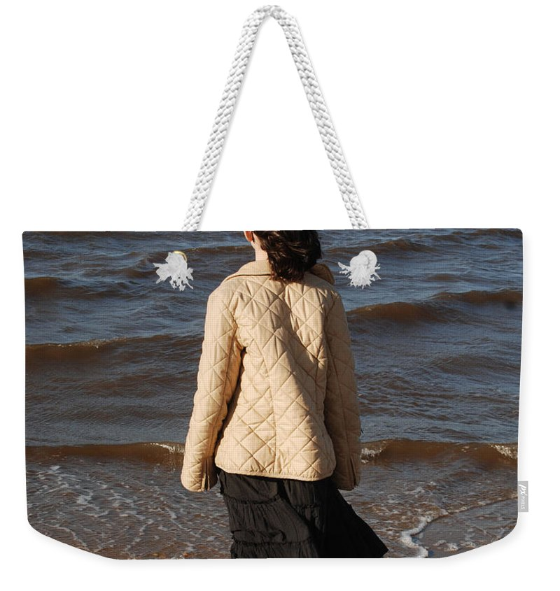 Girl Weekender Tote Bag featuring the photograph Admiring The Ocean by Richard Bryce and Family
