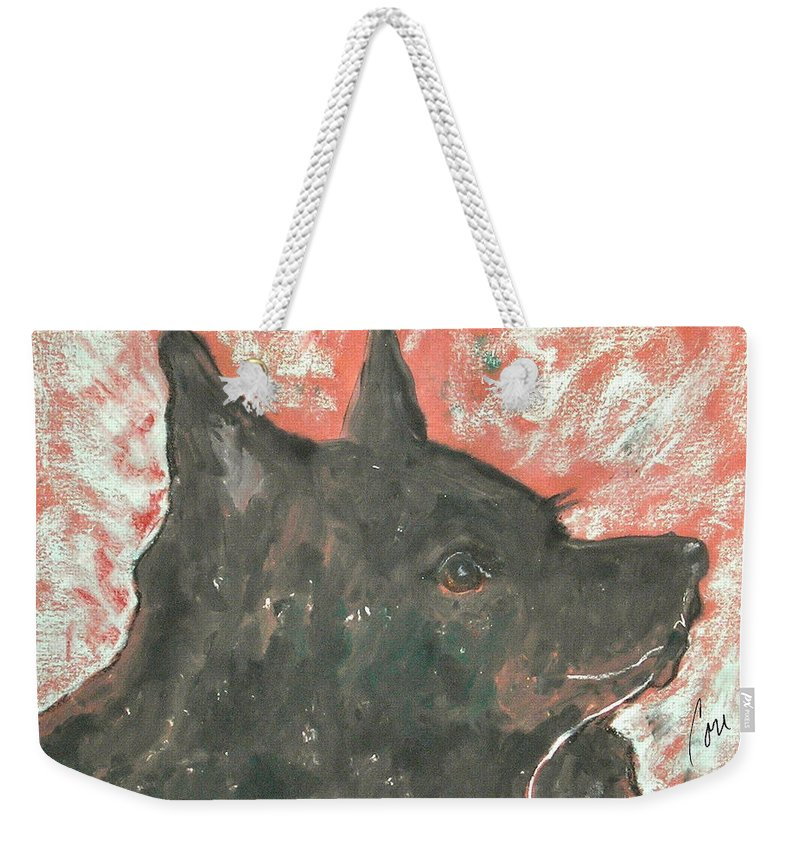 Hand Pulled Print Weekender Tote Bag featuring the mixed media Adoring Eyes by Cori Solomon