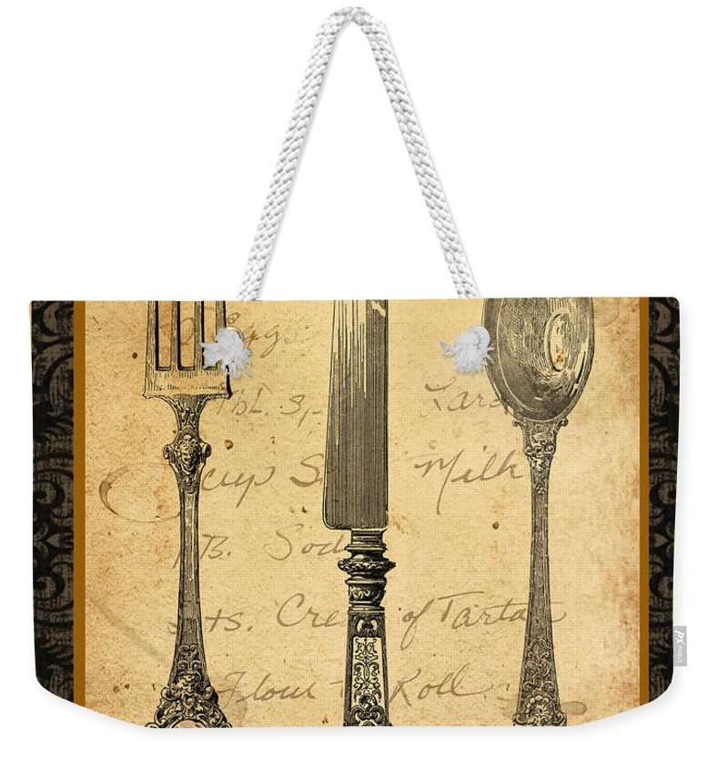 Jean Plout Weekender Tote Bag featuring the digital art Adriana-a by Jean Plout