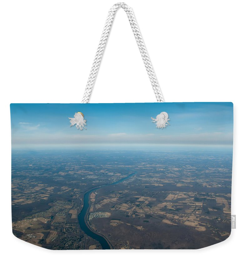 View Weekender Tote Bag featuring the photograph Aerial View Of Earth In Usa by Alex Grichenko