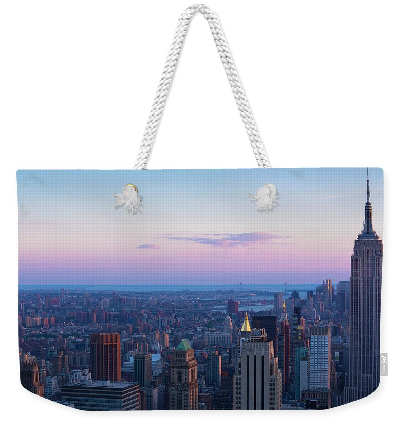 Tranquility Weekender Tote Bag featuring the photograph Aerial View Of Empire State And Midtown by Future Light