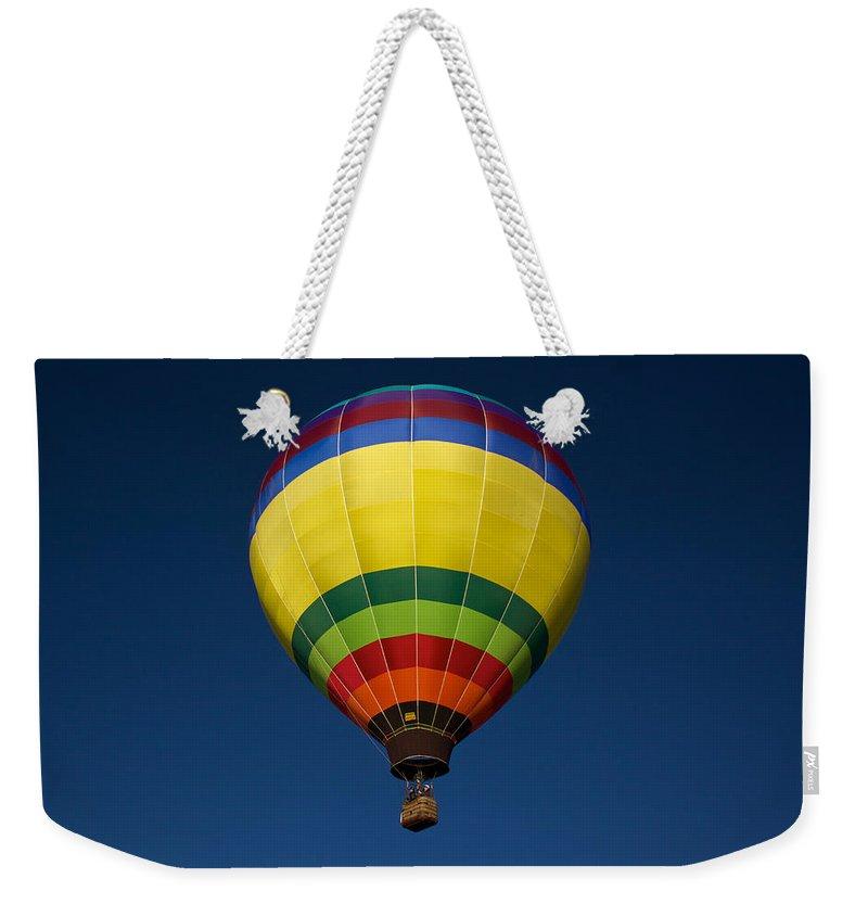 Aerostatic Balloon Weekender Tote Bag featuring the photograph Aerostatic Balloon by Genaro Rojas
